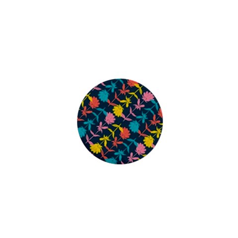 Colorful Floral Pattern 1  Mini Magnets