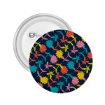 Colorful Floral Pattern 2.25  Buttons Front