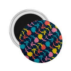 Colorful Floral Pattern 2 25  Magnets