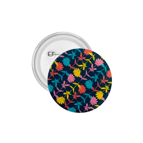 Colorful Floral Pattern 1.75  Buttons