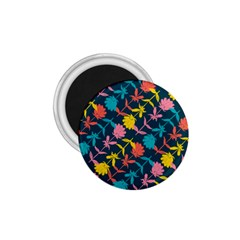 Colorful Floral Pattern 1 75  Magnets