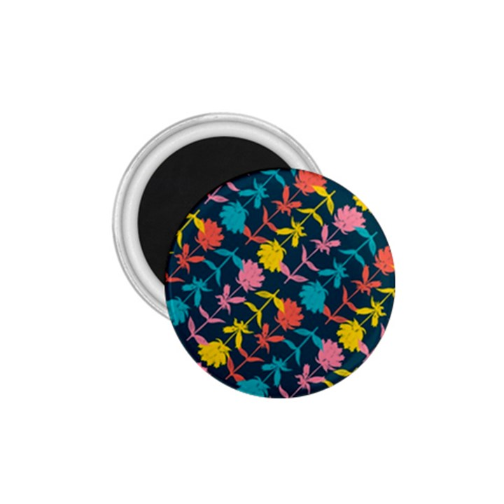 Colorful Floral Pattern 1.75  Magnets
