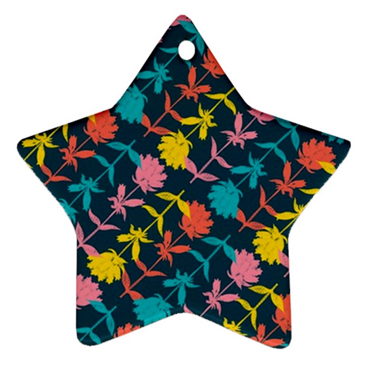Colorful Floral Pattern Ornament (Star)