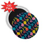 Colorful Floral Pattern 2.25  Magnets (100 pack)  Front