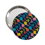 Colorful Floral Pattern 2.25  Handbag Mirrors Front