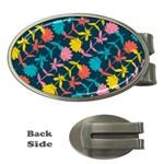 Colorful Floral Pattern Money Clips (Oval)  Front