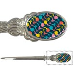 Colorful Floral Pattern Letter Openers Front