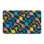 Colorful Floral Pattern Magnet (Rectangular) Front