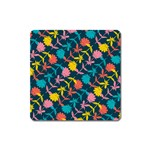 Colorful Floral Pattern Square Magnet Front