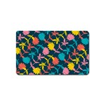 Colorful Floral Pattern Magnet (Name Card) Front