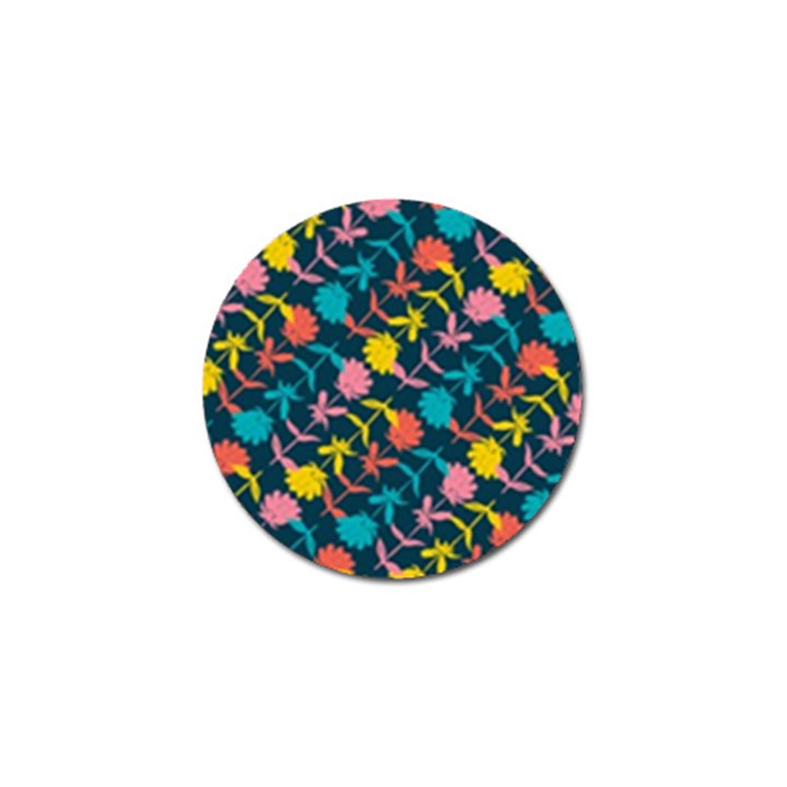 Colorful Floral Pattern Golf Ball Marker (4 pack)