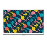 Colorful Floral Pattern Business Card Holders Front