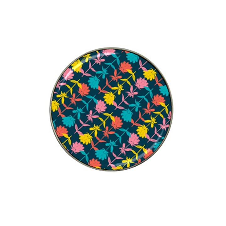 Colorful Floral Pattern Hat Clip Ball Marker