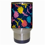 Colorful Floral Pattern Travel Mugs (White) Center