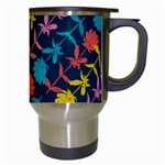 Colorful Floral Pattern Travel Mugs (White) Right