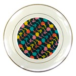 Colorful Floral Pattern Porcelain Plates Front