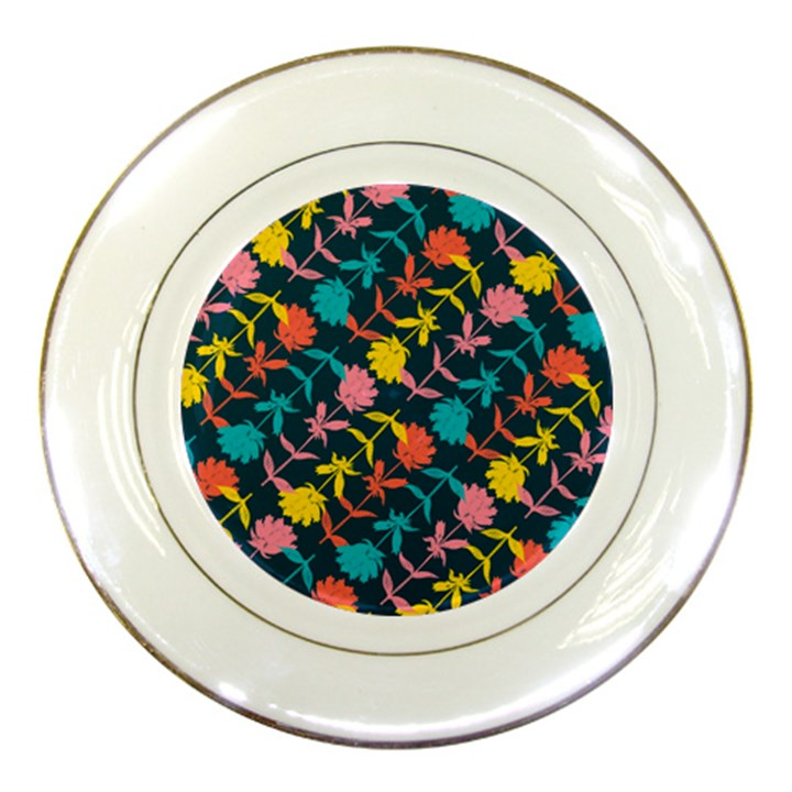Colorful Floral Pattern Porcelain Plates