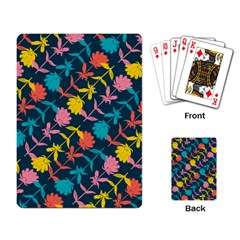 Colorful Floral Pattern Playing Card