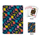 Colorful Floral Pattern Playing Card Back