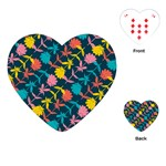 Colorful Floral Pattern Playing Cards (Heart)  Front
