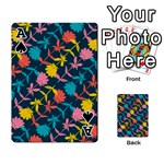 Colorful Floral Pattern Playing Cards 54 Designs  Front - SpadeA