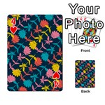 Colorful Floral Pattern Playing Cards 54 Designs  Front - Heart4