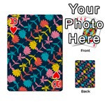 Colorful Floral Pattern Playing Cards 54 Designs  Front - Heart10