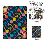 Colorful Floral Pattern Playing Cards 54 Designs  Front - HeartK