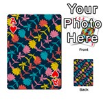 Colorful Floral Pattern Playing Cards 54 Designs  Front - HeartA