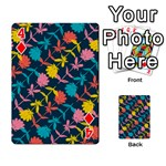 Colorful Floral Pattern Playing Cards 54 Designs  Front - Diamond4