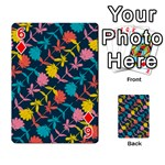 Colorful Floral Pattern Playing Cards 54 Designs  Front - Diamond6