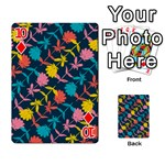 Colorful Floral Pattern Playing Cards 54 Designs  Front - Diamond10