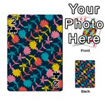 Colorful Floral Pattern Playing Cards 54 Designs  Front - Club2