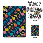 Colorful Floral Pattern Playing Cards 54 Designs  Front - ClubQ