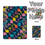 Colorful Floral Pattern Playing Cards 54 Designs  Front - Joker1