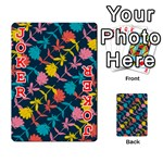 Colorful Floral Pattern Playing Cards 54 Designs  Front - Joker2