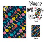 Colorful Floral Pattern Playing Cards 54 Designs  Front - Spade10