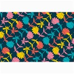 Colorful Floral Pattern Collage Prints 18 x12 Print - 1