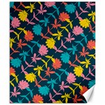 Colorful Floral Pattern Canvas 8  x 10  10.02 x8 Canvas - 1