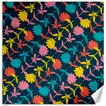 Colorful Floral Pattern Canvas 12  x 12   12 x12 Canvas - 1