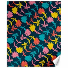 Colorful Floral Pattern Canvas 16  X 20