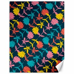 Colorful Floral Pattern Canvas 18  X 24