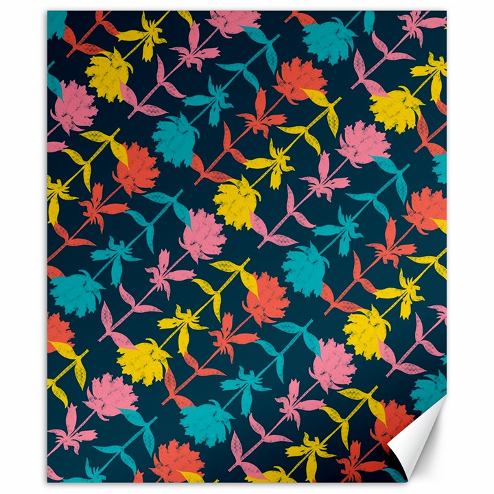 Colorful Floral Pattern Canvas 20  x 24