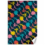 Colorful Floral Pattern Canvas 24  x 36  36 x24 Canvas - 1
