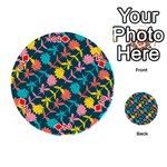 Colorful Floral Pattern Playing Cards 54 (Round)  Front - Diamond2