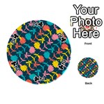 Colorful Floral Pattern Playing Cards 54 (Round)  Front - Club2