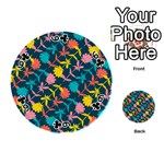 Colorful Floral Pattern Playing Cards 54 (Round)  Front - Club6