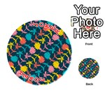 Colorful Floral Pattern Playing Cards 54 (Round)  Front - Joker2