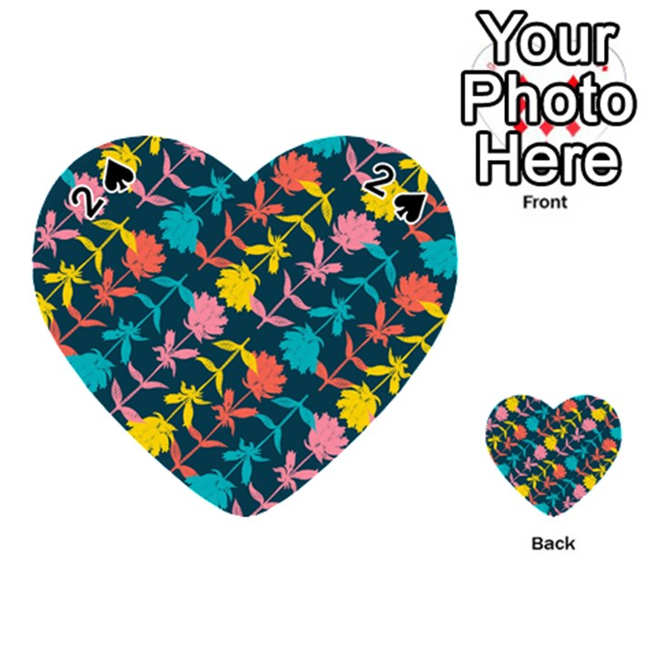 Colorful Floral Pattern Playing Cards 54 (Heart)