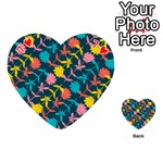 Colorful Floral Pattern Playing Cards 54 (Heart)  Front - Heart7